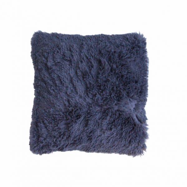 Sierkussen fluffy grijs blauw