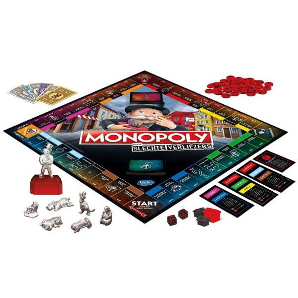 Monopoly slechte verliezers speelmateriaal