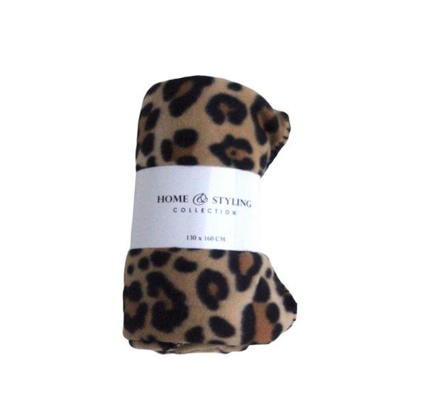 Fleece plaid luipaard