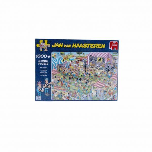 Puzzel 1000 stukjes jan van haasteren popfestival