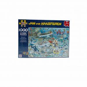 Puzzel 1000 stukjes jan van Haasteren pret onder water