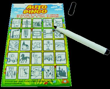 auto bingo kaart