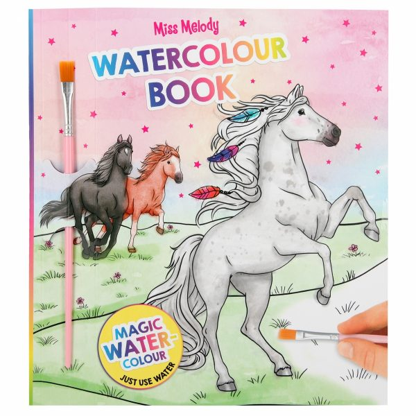 Miss melody water colour boek