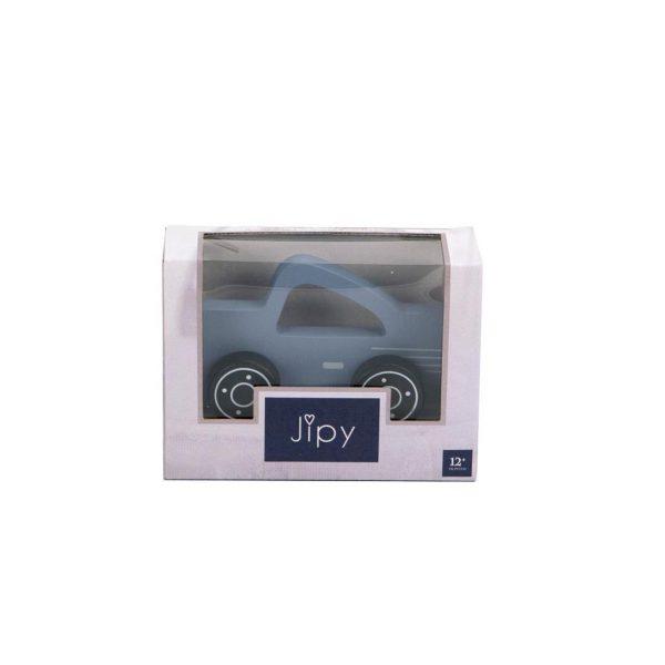 Jipy auto hout licht blauw