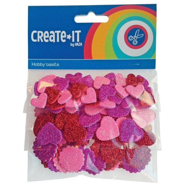 Create-it glitter hartjes