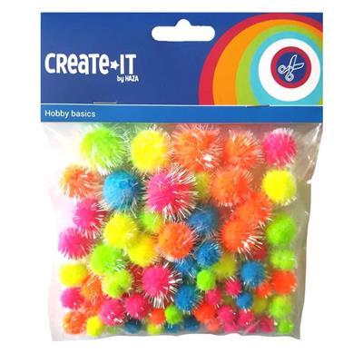 Create it glitter pompons neon