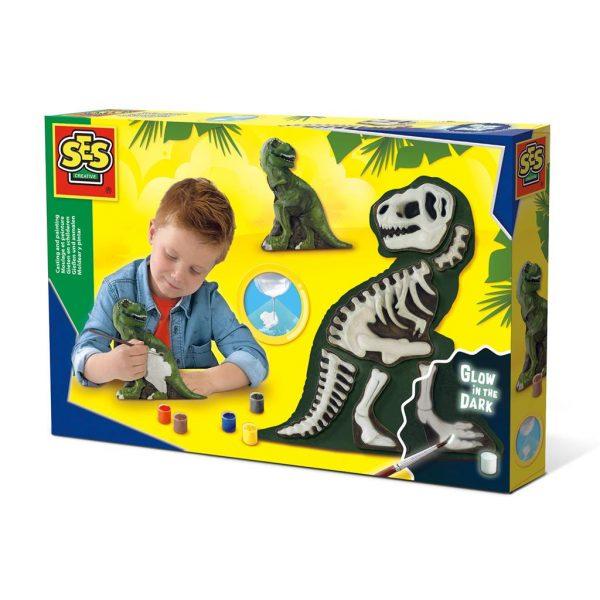 SES gips gieten en schilderen T-rex skelet