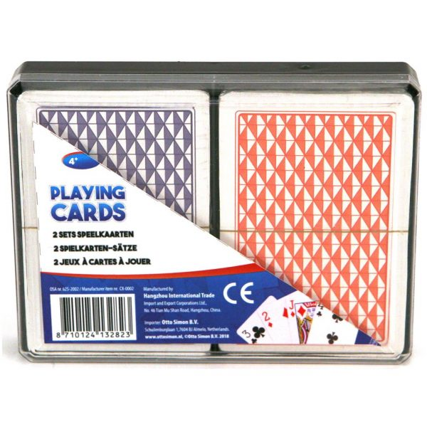speelkaarten in doos